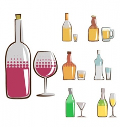 bottle set vector image