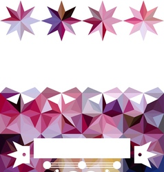Colorful abstract triangular bright pattern vector