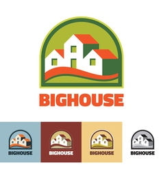 Big house - logo concept vector