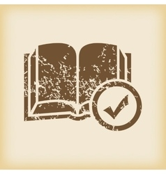 Grungy select book icon vector
