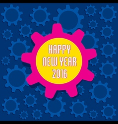 Creative happy new year 2016 greeting card design vector
