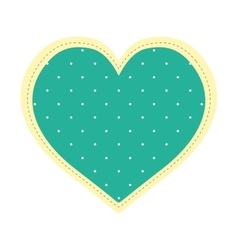 Pointed heart shape icon sticker design vector