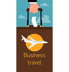 Business travel poster vector