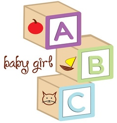 Baby girl blocks vector