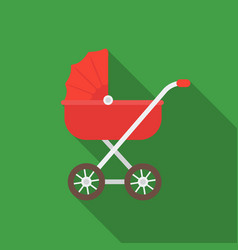 Baby transport icon in flat style isolated on vector
