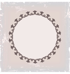 background of round floral vintage frame vector image vector image