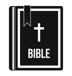 Bible icon in simple style vector image