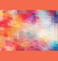 bright color triangle background vector image vector image