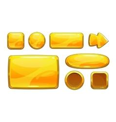 Cartoon golden game assets vector