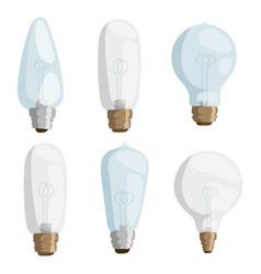Cartoon lamps light bulb electricity design vector
