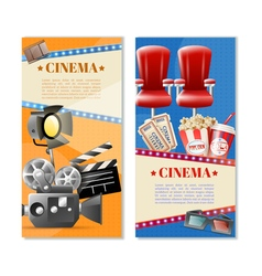 Cinema 2 vertical banners set vector