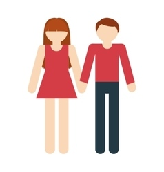 couple romantic love together vector image
