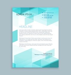 creative modern letterhead template with abstract vector image vector image