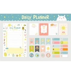 Cute calendar daily planner vector