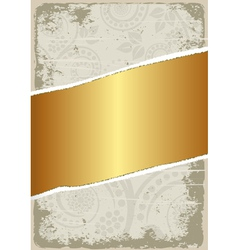 dirty and gold background vector image