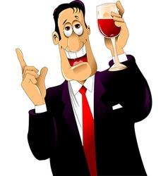drunkard vector image vector image