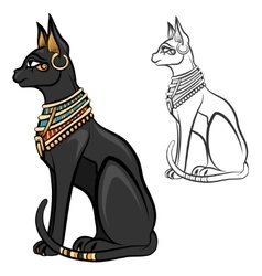 Egypt cat goddess bastet vector image
