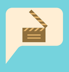 Flat icon film slapstick vector