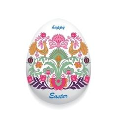 Floral ornamental eggs vector image