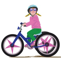 Girl on a bike vector