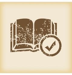 Grungy select book icon vector
