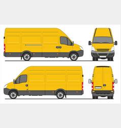 Iveco turbo daily cargo van vector