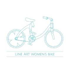 Line Art Womens Bike One vector image vector image