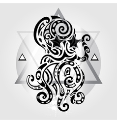 Octopus Tribal pattern vector image