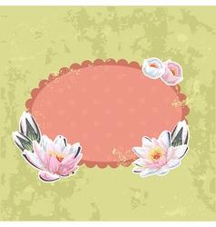 Retro-style floral invitation postcard vector image