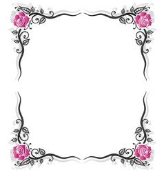 Roses vintage frame vector image vector image