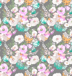 Soft flowers seamless background vector