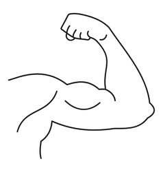 Strong hand muscle icon simple style vector