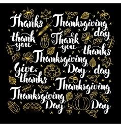 Thanksgiving day calligraphy design vector