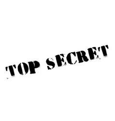 top secret rubber stamp vector image