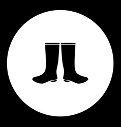 two galosh simple silhouette black icon eps10 vector image vector image