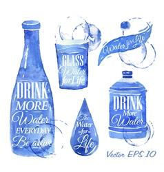 Watercolor water vector image vector image