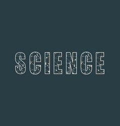 word science lettering vector image