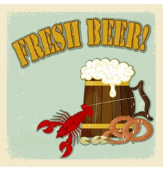 Fresh Beer Menu vector image