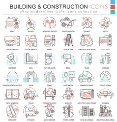 building constructions color line outline vector image