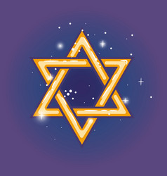 Star of david for hanuka vector