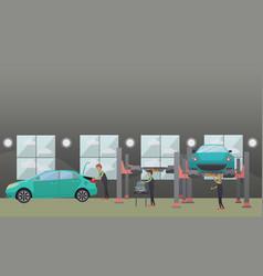 Auto spare parts repair concept vector