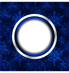 Blue Christmas Snowflake Background vector image