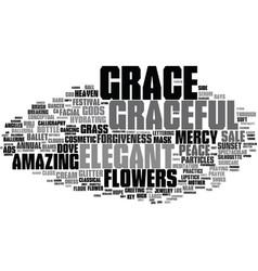 Grace word cloud concept vector