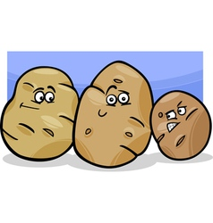 potatoes vegetable cartoon vector image