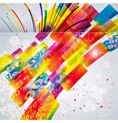 Abstract background with design elements vector