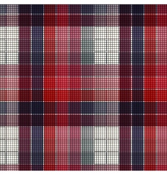 Plaid fabric vector