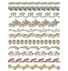 Set of Lace Paper with flower and leafs vector image
