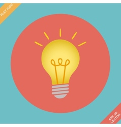 Lightbulb icon - vector