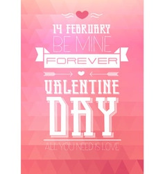 Valentine triangle background disco poster vector