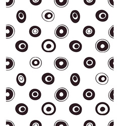 Retro seamless pattern geometric background polka vector